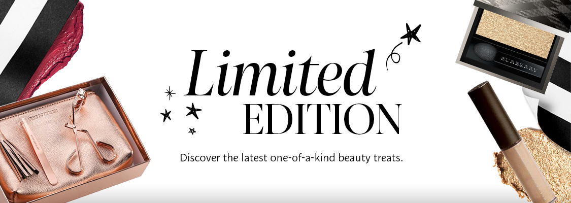 Limited edition. Discover the latest one-of-a-kind beauty treats