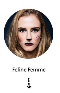 Feline Femme Halloween Makeup