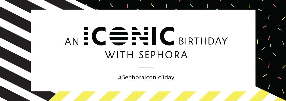 Celebrate an iconic birthday with Sephora #SephoraIconicBday