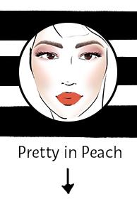 Pretty in peachmakeup look