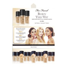 Born This Way Foundation Card (Vanilla + Light Beige + Sand)