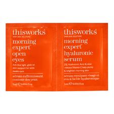 Morning Expert Open Eyes + Hyaluronic Serum Duo Sachet