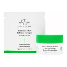 Slaai Makeup Melting Butter Cleanser (13g) + Bamboo Booster Exfoliator (1g)